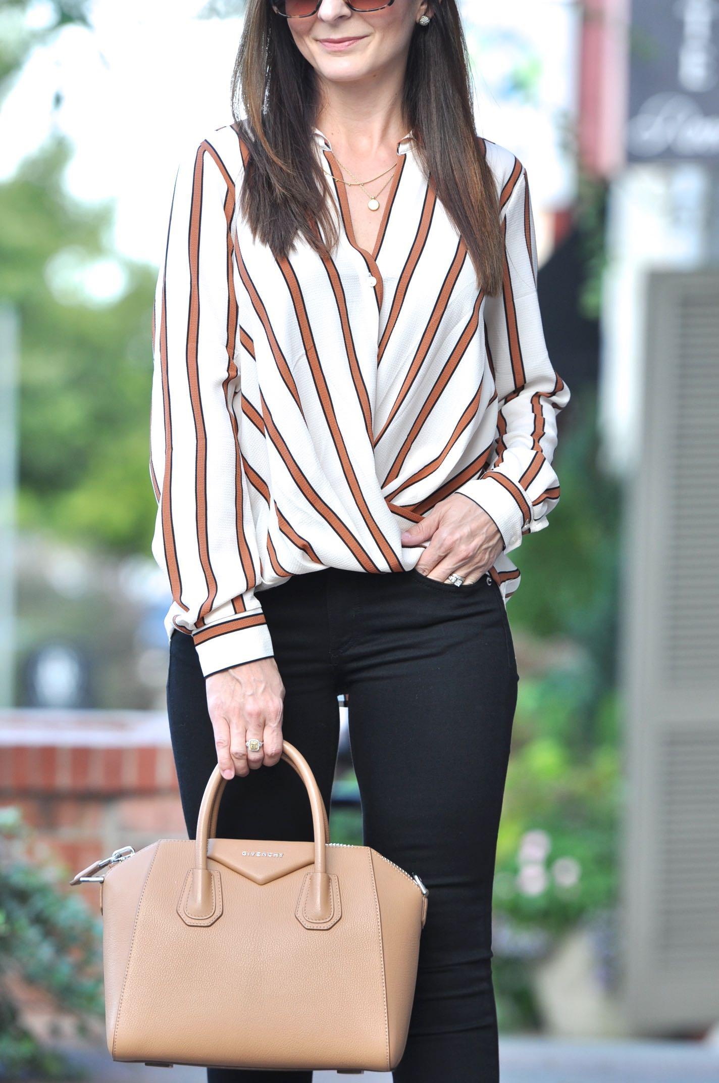 Cream Striped Blouse