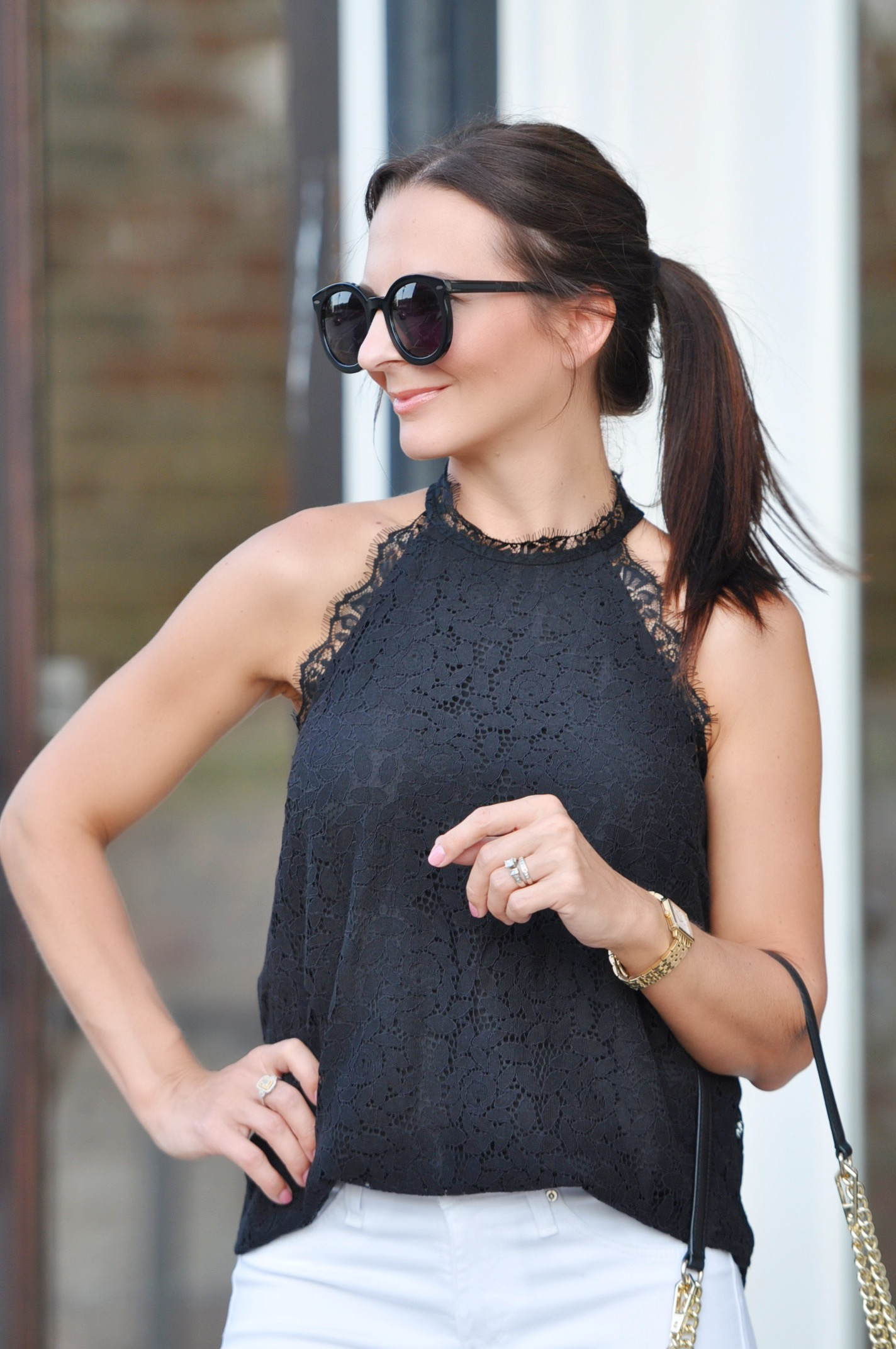 Gibson lace halter top